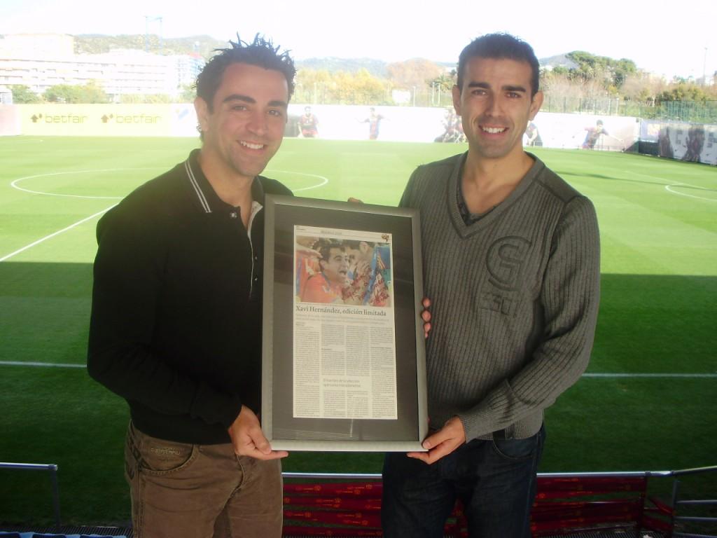 Xavi Hernández y Pablo Coira